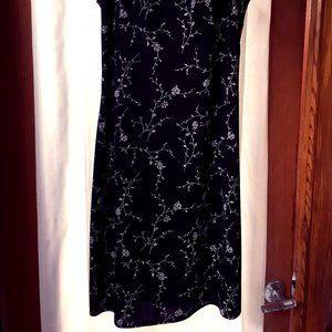 VINTAGE BLACK FLORAL SHIFT DRESS